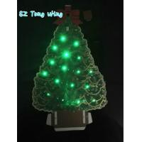 Wholesale Christmas Tree Shaped Flashing  LED Module , Fiber Optic greeting card sound modules from china suppliers