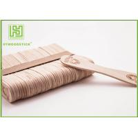 European Style Personalized Wooden Ice Cream Spoons Bulk Popsicle Sticks Odorless