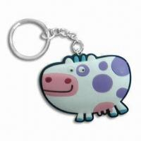 Wholesale PVC Key Ring, Customized Designs are Available, Used as Promotions Gifts from china suppliers