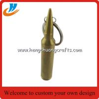 China Imprinted bullet beer opener key tags, bespoke bullet bottle can opener key ring, on sale