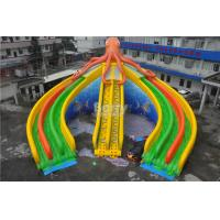 Wholesale Customized Swimming Pool Octopus Water Slide , Giant Water Slide For Swimming Pool from china suppliers