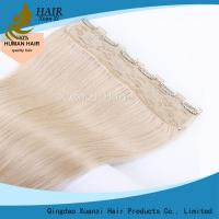Buy cheap Body Waves Double Drawn Ladys Hair Extensions Human Remy Blonde Hair Clip from wholesalers