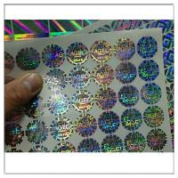 China Self Adhesive 3d Holographic Hologram Stickes Labels,Customized holographic label sticker anti counterfeit label on sale