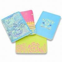 Wholesale Art Paper Cover Notebooks with Sewing Binding and Style Printing, Available in Red, Green and Blue from china suppliers