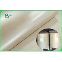 China 100 % Pure MG Brown Kraft Paper Roll Of 32 To 60gsm Wrapping Food FDA FSC ISO for sale