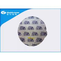 China Dairy Food Packaging Heat Seal Foil Lids Round / Triangle / Peach Shape on sale