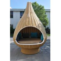 Buy cheap Durable Discount Rattan Furniture 7PCS Rattan Hanging Chair / Daybed With Round Base from wholesalers