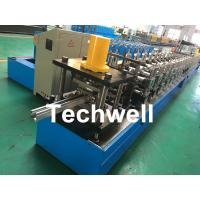 Wholesale Galvanized Steel / PPGI Guide Rail Roll Form Machines With Hydraulic Punching Device from china suppliers
