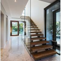 Buy cheap Indoor prefabricated stairs wooden floating stairs from wholesalers
