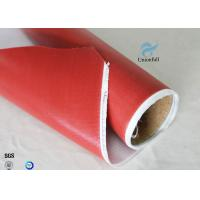 Wholesale 1.5m Wide 0.45mm Silicone Coated Fiberglass Fabric 80g Single Side Chemical Resist from china suppliers