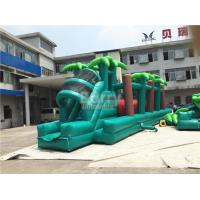 Wholesale EN14960 Green Jungle Giant Inflatable Bouncer Obstacle Course With Rolling Wrecking Ball from china suppliers