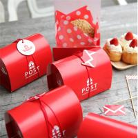 Quality Red Printing Cardpaper Raw Materail Paper Food Box For Donut Bread Packaging for sale
