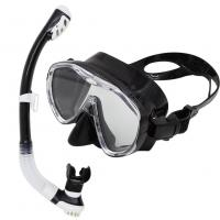 Wholesale Black Adult Diving Sets Silicone Diving Mask Snorkel With CE Certificate from china suppliers