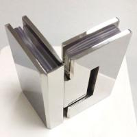 Buy cheap Brass material chrome plated 90° Glass-to-Glass Shower Door Hinge from wholesalers