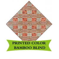 China Round Woven Bamboo Roman Blinds Corrosion Resistant For Sukkot Tent Festival on sale