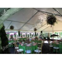 Wholesale Waterproof Outside Large Party Tents , Outdoor Canopy Tent White Pvc Fabric Cover from china suppliers