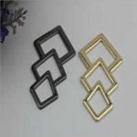 Novelty design triangle pattern gold & gunmetal zinc alloy metal logo plate for shoes accessories for sale