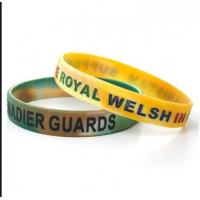 silkprint silicone wristbands for sale