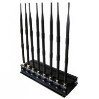 China 8 Bands Indoor Cell Phone Signal Jammer , Wireless Mobile Signal Blocker 12W RF Power on sale