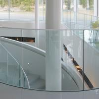 Wholesale Arched Tempered Glass Curved Glass Balustrade Aluminum Railing from china suppliers