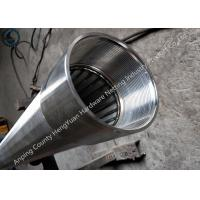 Wholesale Sliver SS Threaded Coupling Wedge Wire Screen Pipe For Water Well Drilling from china suppliers