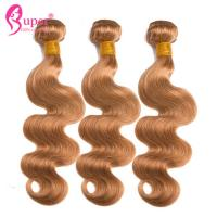 Wholesale Healthy Ombre Brazilian Body Wave Color 27 Human Cuticle Aligned Double Drawn Weft from china suppliers