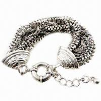 Wholesale Fashion Beaded Bracelet with Metal Accessories from china suppliers