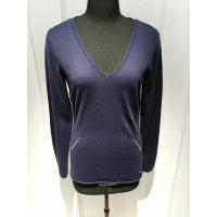 Wholesale Deep V Neck Intarsia Slim Fit Pullover ,Women Knit Pullover Sweater With Sequins from china suppliers
