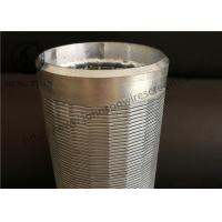 Quality Johnson Wound Water Well Screen Low Carbon Steel Galvanized Material for sale