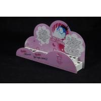 Wholesale Cosmetic Organizer Countertop Eyeshadow Display Stand Printing Pink Cartoon Logo from china suppliers