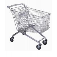 China Strong 4 Wheel Supermarket Shopping Trolleys Steel Material With 4 / 5 Caster on sale