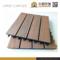 Wholesale Mix color capped wood plastic composite deck tile 30S30 from china suppliers