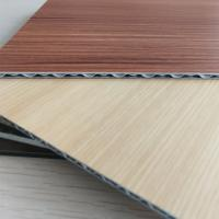 Wholesale Wood Grain Aluminum Core Panel Light Weight Fireproof Length 2400mm Customzied from china suppliers
