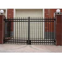 Wholesale Double Swing Metal Automatic Driveway Gates Zinc Plated For House / Villa from china suppliers