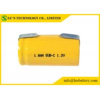 China SC 1800mah 1.2V Nickel Cadmium Battery NICD Charger Cylindrical Cell Type on sale