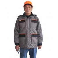 Buy cheap Two Tone Safety Heavy Duty Winter Work Jacket With Storm Pockets And Padding Hood from wholesalers