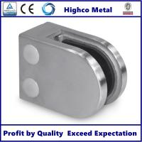 Buy cheap Stainless Steel Middle D Shape Flat Glass Clamp High Polished 63x45mm Fit 6-10mm from wholesalers