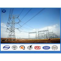 Wholesale Galvanized Framework Electric Substation Structure Components Steel Pole from china suppliers