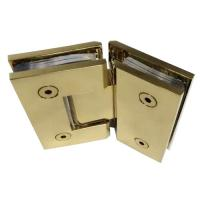 Wholesale Gold plated 135 degree corner Glass to Glass Hinge from china suppliers