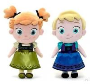 Small Girls Disney Plush Toys Elsa And Anna Frozen Baby Dolls 30cm