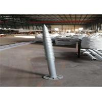 Wholesale Deep Foundation Helical Screw Piles , PV Mount Galvanized Earth Screw Anchors from china suppliers