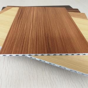 Wholesale Light Weight Fireproof Wood Grain Aluminium Core Panel , Aluminium Advertising Boards from china suppliers