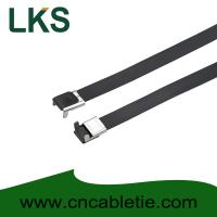 Wholesale 16×400mm L Type PVC coated stainless steel cable tie-Wing Lock type from china suppliers