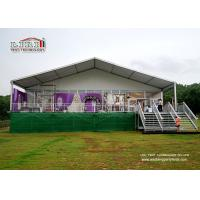 White Aluminum and PVC Luxury Wedding Tents with Solid Sidewalls for 500 People Capacity Weddings and Parties for sale