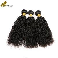 Buy cheap 100% Unprocessed Kinky Curl Malaysian Virgin Hair Extensions Natural Black from wholesalers