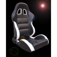 Quality Black and white Sport Racing Seats with harness / classic sports car seats for sale