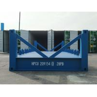 China Special Shipping Container Platform 20 Foot Frame Half Height Blue Industrial for sale