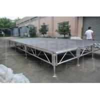 Non - Slip Lightweight Aluminium Stage Platform , Fashion Show Adjustable Stage Platform