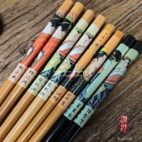 Wholesale Customized Print Japanese Bamboo Chopsticks Eco - Friendly For Adult / Children from china suppliers