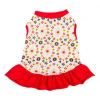 Wholesale red dog dresses summer / chinese dog clothes / dog party dresses from china suppliers